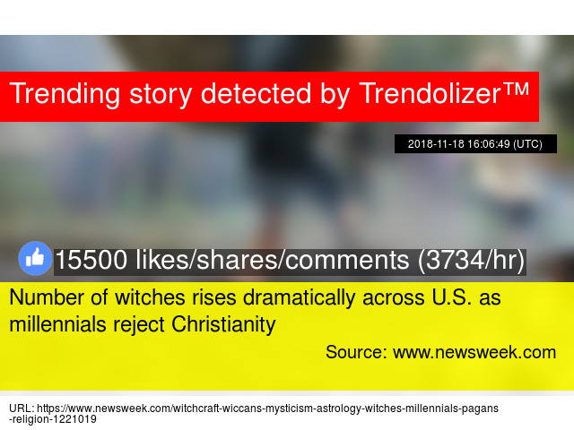 Number of witches rises dramatically across U S  as millennials
