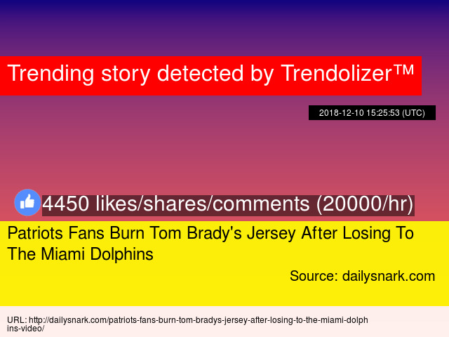 online store 3054d 62e6e Patriots Fans Burn Tom Brady's Jersey After Losing To ...