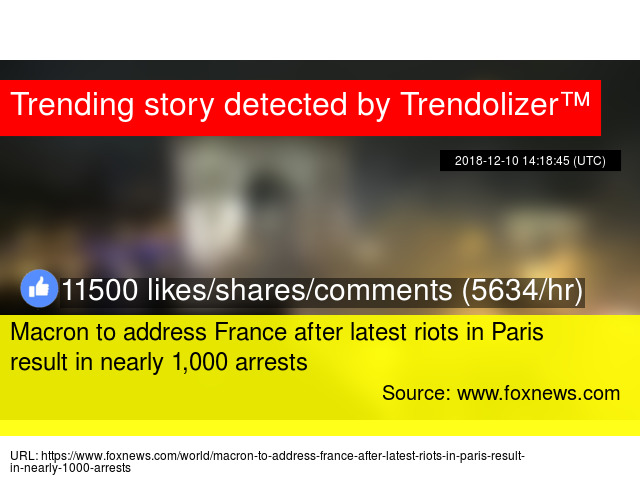 Macron to address France after latest riots in Paris result in