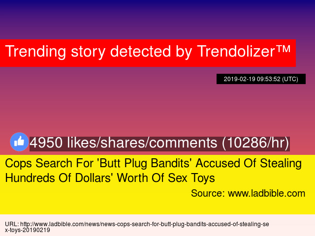 Cops Search For 'Butt Plug Bandits' Accused Of Stealing ...