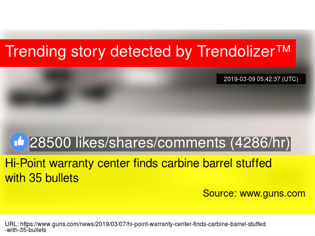 Hi-Point warranty center finds carbine barrel stuffed with