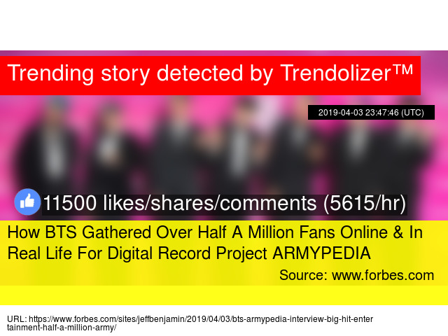 How BTS Gathered Over Half A Million Fans Online &