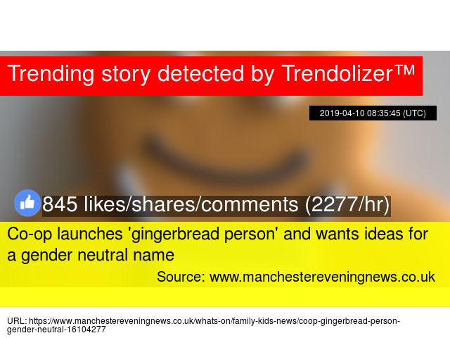 Co-op launches 'gingerbread person' and wants ideas for a gender