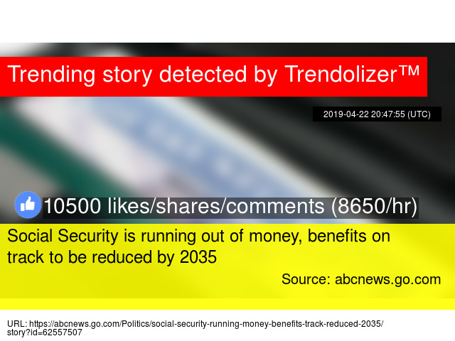 Social Security is running out of money, benefits on track