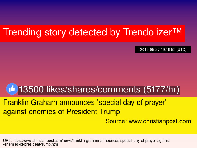 Franklin Graham announces '