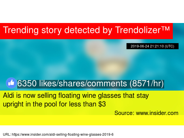 Aldi is now selling floating wine glasses that stay upright