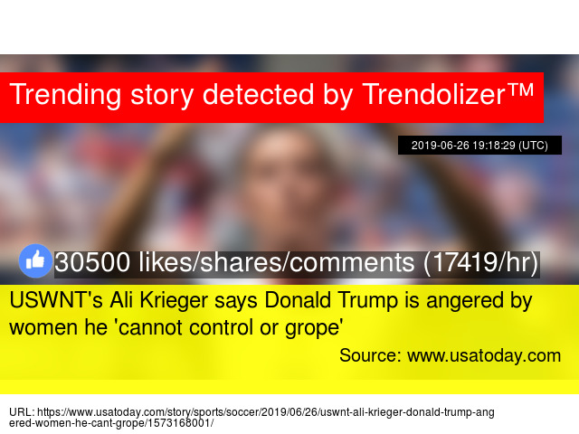 USWNT's Ali Krieger says Donald Trump is angered by women he