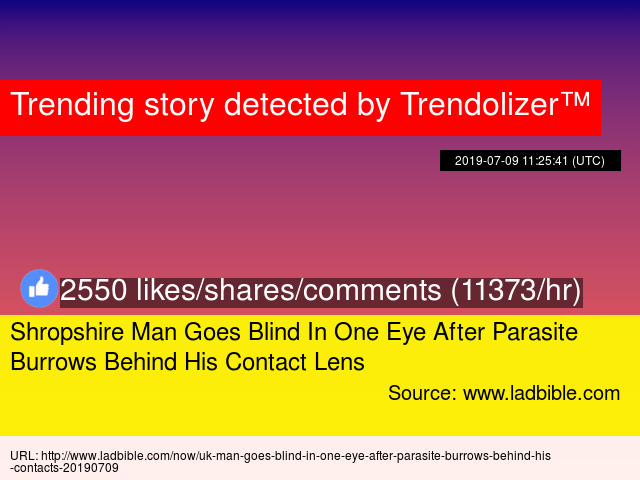 Shropshire Man Goes Blind In One Eye After Parasite Burrows