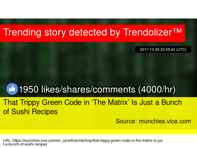 That Trippy Green Code in 'The Matrix' Is Just a Bunch of