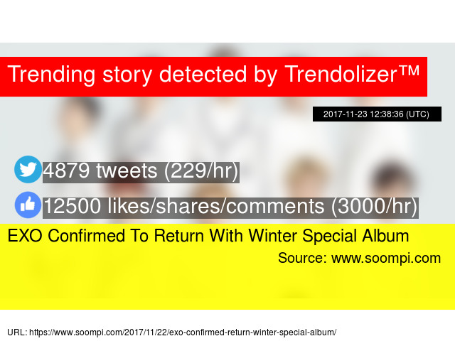 EXO Confirmed To Return With Winter Special Album