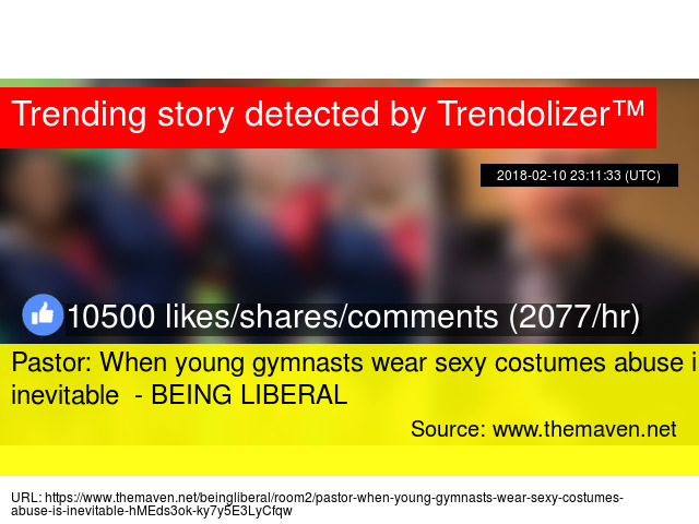 f21c41c6d639 Pastor: When young gymnasts wear sexy costumes abuse is inevitable - BEING  LIBERAL