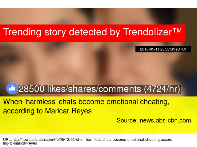 When 'harmless' chats become emotional cheating, according to