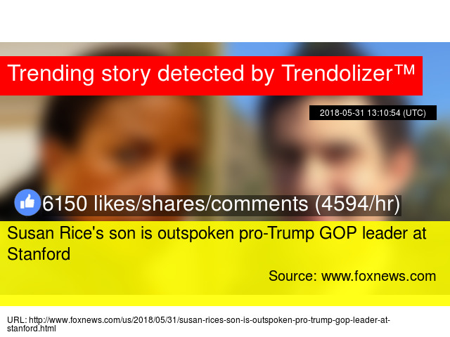 Susan Rice's son is outspoken pro-Trump GOP leader at Stanford