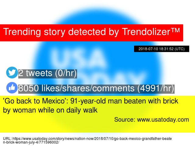 a184f452525  Go back to Mexico   91-year-old man beaten with brick by woman while on daily  walk