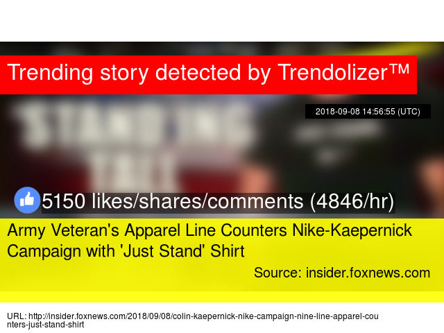 48ab67b15ef7 Army Veteran  039 s Apparel Line Counters Nike-Kaepernick Campaign with    039 Just Stand  039  Shirt
