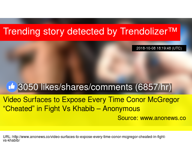 Video Surfaces to Expose Every Time Conor McGregor ""