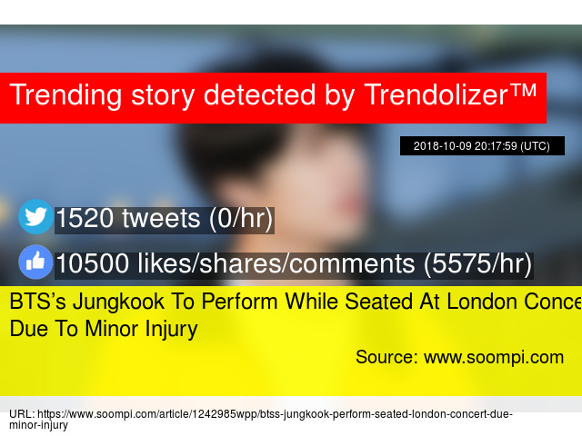 BTS's Jungkook To Perform While Seated At London Concert Due